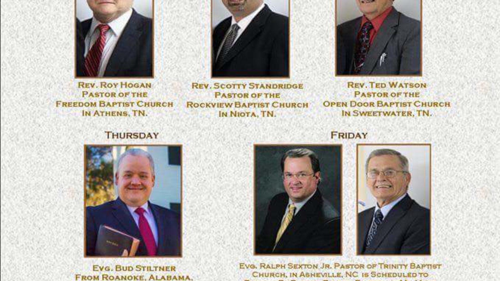 Area Meeting: Community Revival – Mt. Verd Baptist Church – Athens, Tn