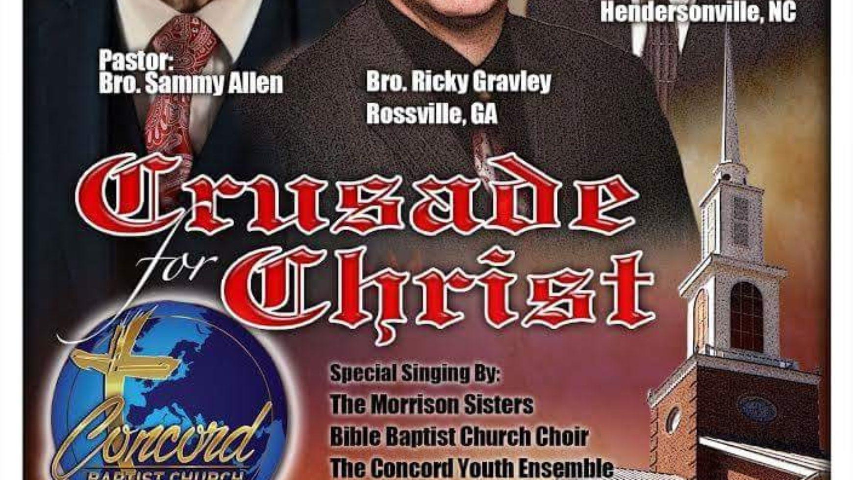 Area Meeting: Evangelistic Crusade – Concord Baptist Church – Fairmount, GA