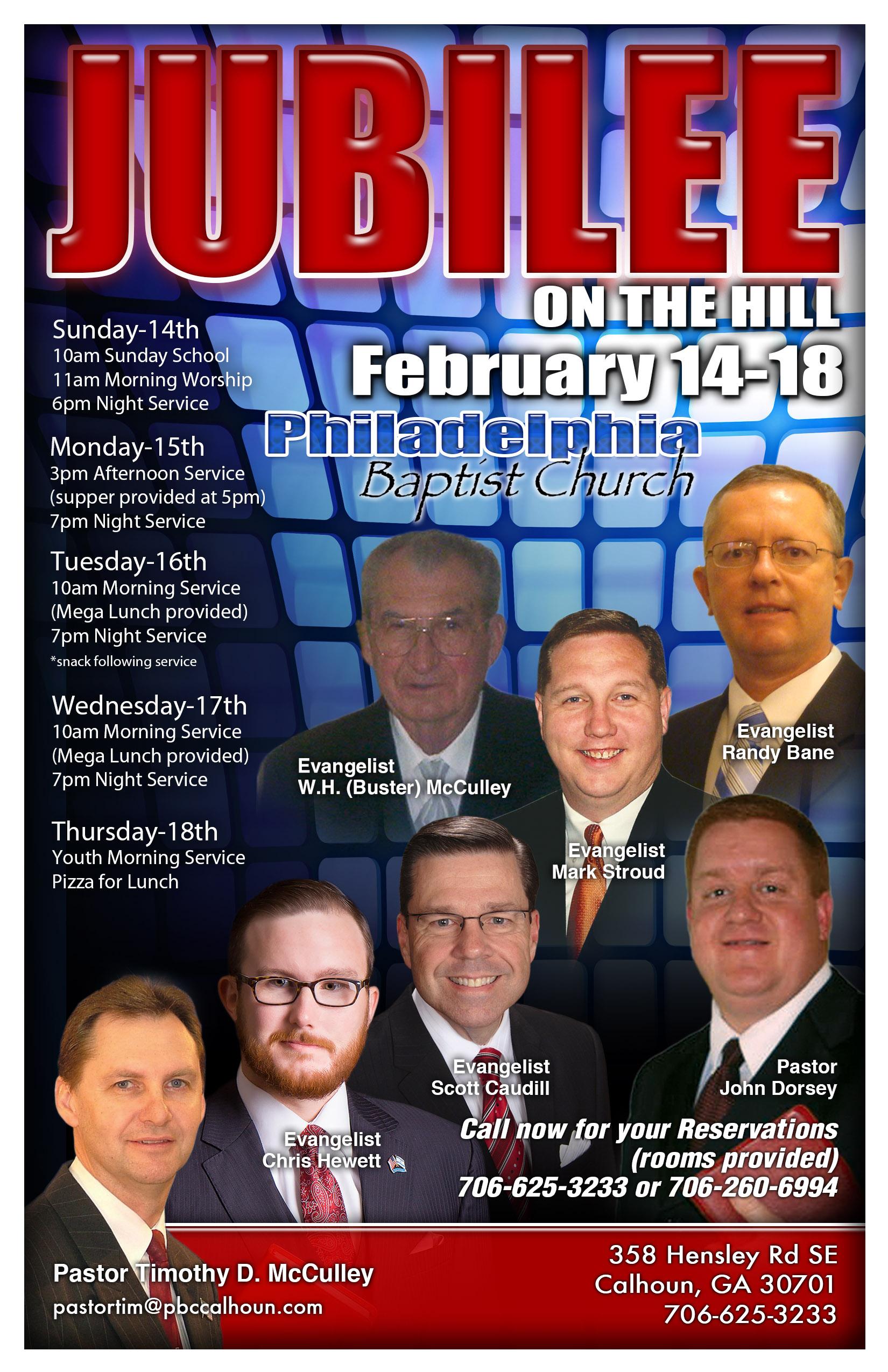 Area Meeting: Jubilee on the Hill – Philadelphia Baptist Church