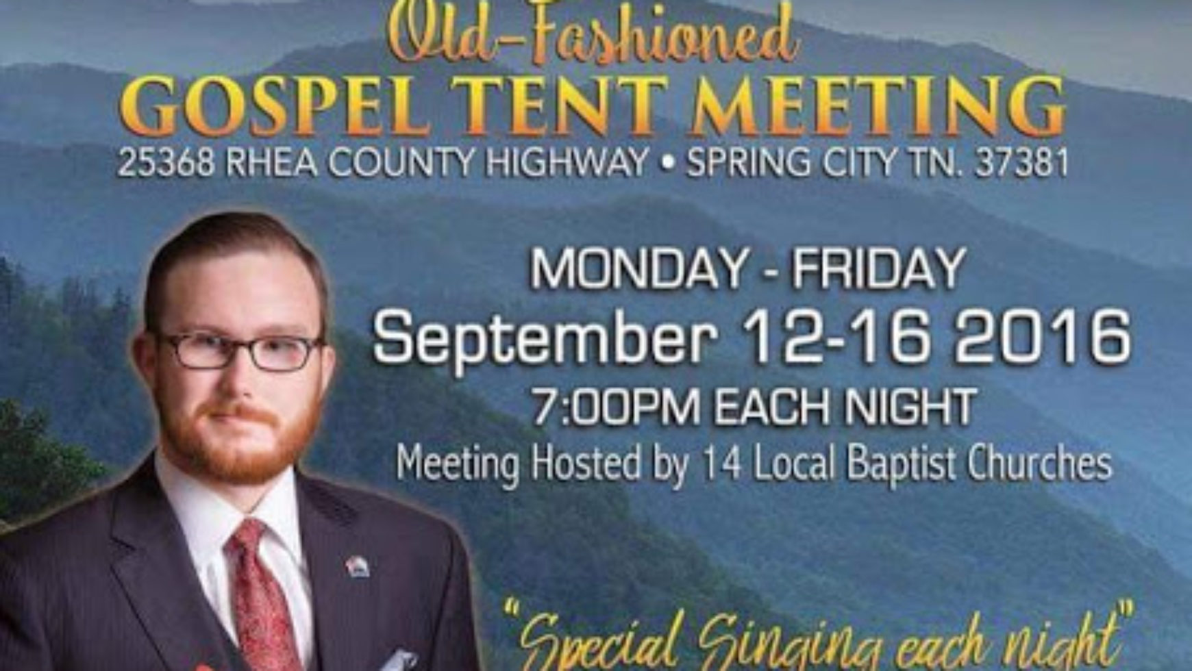 Area Meeting: Tent Meeting – 14 Area Churches – Spring City, Tn