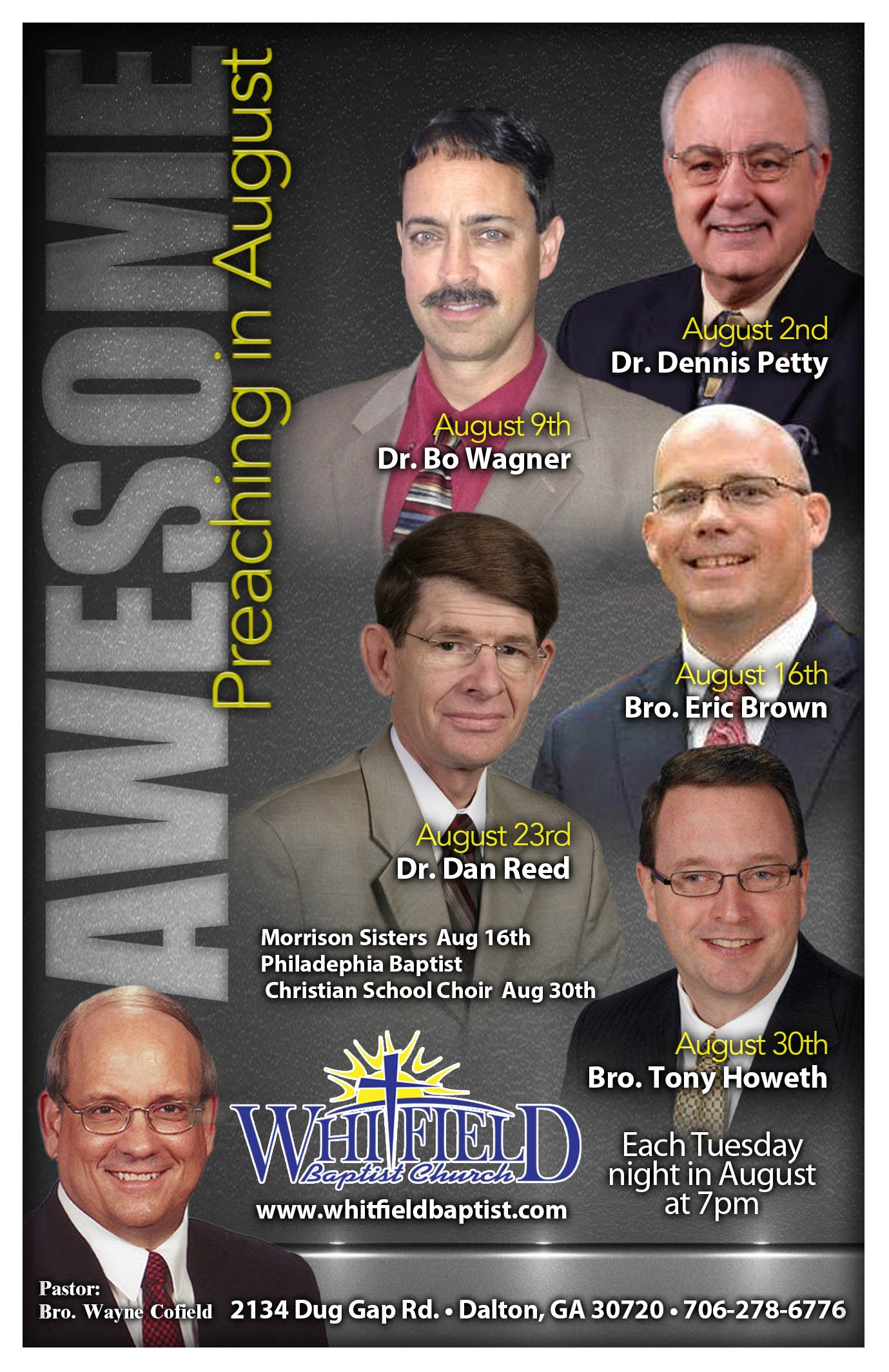 Area Meeting: Special Services – Whitfield Baptist Church – Dalton, GA