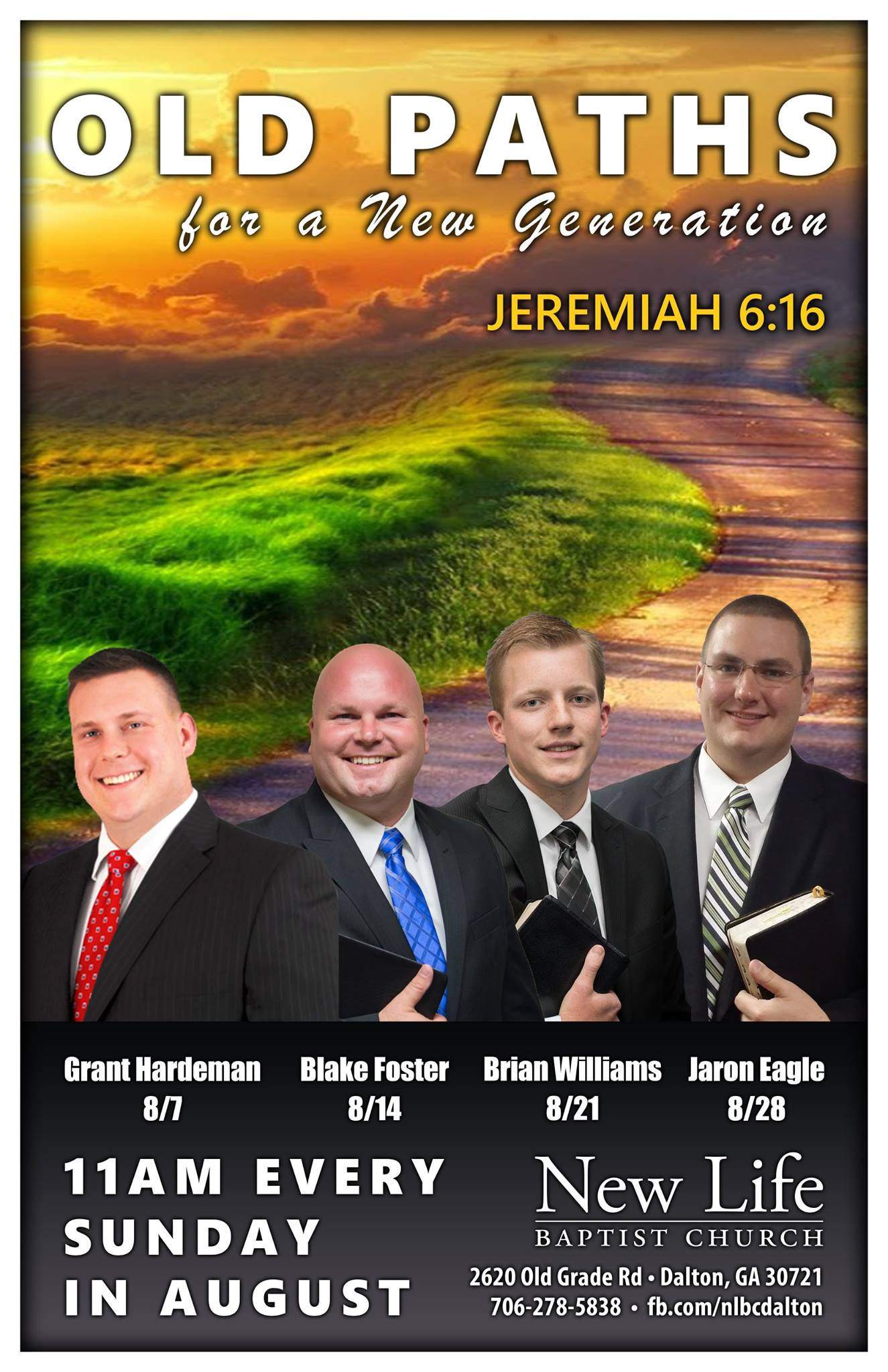 Area Meeting: Special Services – New Life Baptist Church – Dalton, GA