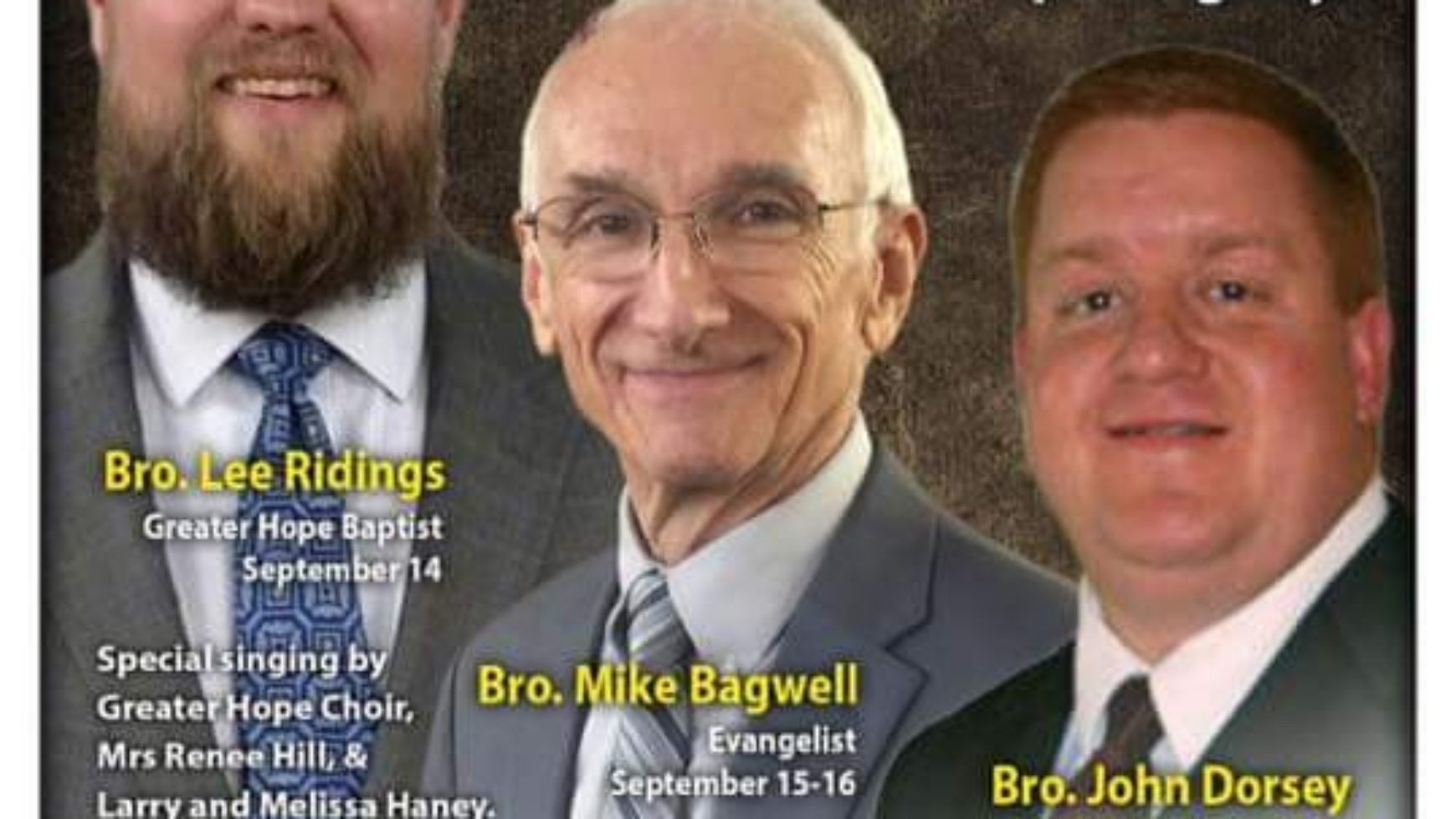 Area Meeting: Revival Services – New Brooklyn Baptist Church – Temple, GA