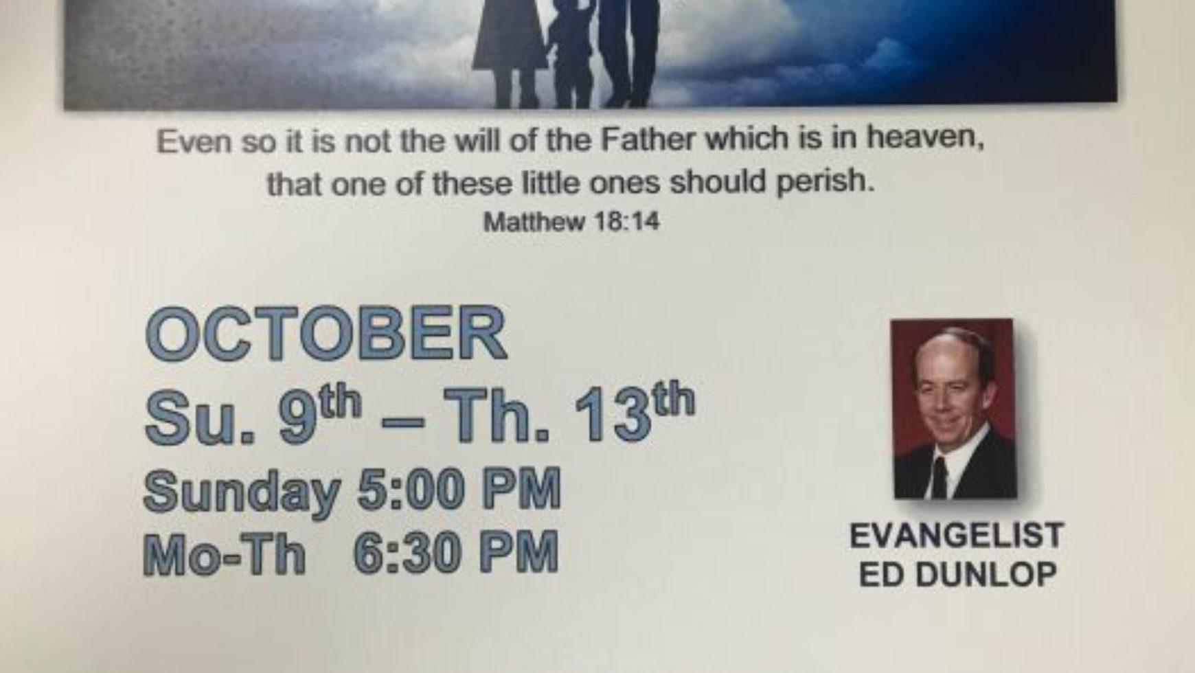 Area Meeting: Crusade – Anchor of Hope Baptist Church – Rossville, Ga